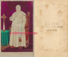 CDV Couleur-peinte- Pie IX Pape- Photo Diatri à ROMA - Old (before 1900)