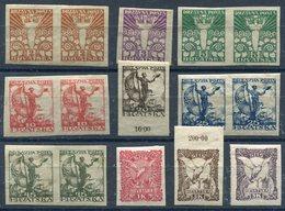 YUGOSLAVIA 1919 Croatia Definitive Set Imperforate LHM / *. - Ungebraucht