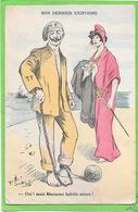 GUERRE 14/18 - Humoristique - Guillaume Et Marianne - Son Dernier Uniforme, Illustration Signée ?? - Weltkrieg 1914-18