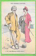 GUERRE 14/18 - Humoristique - Guillaume Et Marianne - Son Dernier Uniforme, Illustration Signée ?? - Oorlog 1914-18