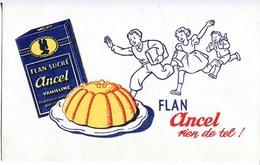 Buvard Publicitaire : Flan ANCEL - Cake & Candy