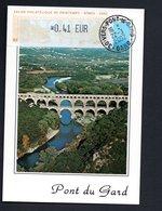 1 -CARTE MAXIMUM --SALON PHILATELIQUE De NIMES  2002 (PONT DE GARD) LISA  0,41 - Maximum Cards