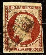 EXTRA NAPOLEON N°17 A 80c Carmin Foncé Oblitéré Losange PC Cote 120€ PAS AMINCI - 1853-1860 Napoléon III