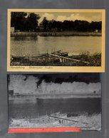 Y14822/ Rendsburg Untereider Hafen  AK + Negativ Ca.1940 - Rendsburg