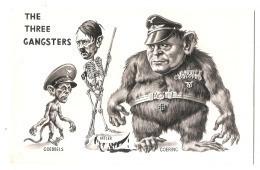 ***  Illustrateur - PROPAGANDE ANTI NAZIS -The Three Gangsters - Excellent état - - War 1939-45