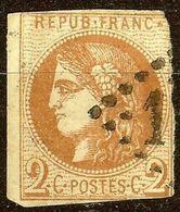 EXTRA BORDEAUX N°40 B 2c Brun-Rouge Oblitéré Losange GC Cote 400 € PAS AMINCI - 1870 Ausgabe Bordeaux