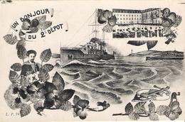 BREST Bonjour Du 2ème Dépot 1922 - Brest