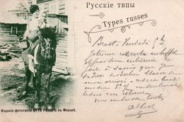 TYPES RUSSES-1898-COUPLE A CHEVAL - Russia