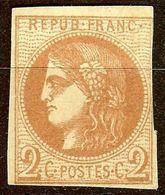 SUPERBE BORDEAUX N°40 B 2c Brun-Rouge NEUF Sans GOMME Cote 400 € PAS AMINCI - 1870 Bordeaux Printing