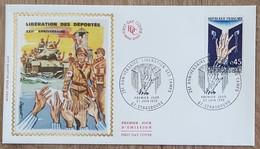 FDC 1970 - YT N°1648 - 25e ANNIVERSAIRE DE LA LIBERATION DES CAMPS - STRASBOURG - FDC