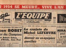 Journal L'Equipe N°2717 Louison Bobet Champion Des Champions En 1954 - 1950 à Nos Jours