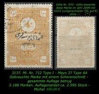 TURKEY ,EARLY OTTOMAN SPECIALIZED FOR SPECIALIST, SEE...Mi. Nr. 712 I - Mayo 37 AA :-: - 1920-21 Anatolia