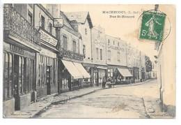 Cpa..Machecoul..(L.-Inf.)..rue St-Honoré...commerces..(épargne De L'ouest,louis Gautier..ect)...1913... - Machecoul