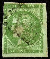 EXTRA BORDEAUX N°42Ba 5c Vert Foncé Oblitéré Losange GC Cote 280 Euro PAS AMINCI - 1870 Bordeaux Printing