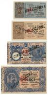 1-2-5-10 LIRE VENEZIA GIULIA E VENEZIA TRIDENTINA 1915 SUP - [ 6] Colonies