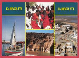 CPM-DJIBOUTI -  Multivues Animées -1/2* SUP ** 2 SCAN- - Djibouti