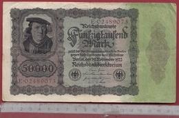 Allemagne 50000 Mark Du 19/11/1922  Dans L 'état - 50000 Mark