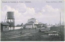 PORTUGAL-POSTCARDS- TEMA-( CAMINHOS DE FERRO(ESTAÇÕES)--FARO-OLHÃO- ESTAÇÃO CAMINHO DE FERRO - Faro
