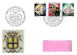 ITALIA - 1981 MODENA 11^ Mostra Filat. Cascphilex Dipendenti Della Banca D'Italia - Bollo Prefilatelico Ducato Modena - Esposizioni Filateliche
