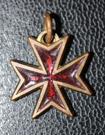 """Pendentif Médaille Religieuse """"Croix De Malte"""" Religious Medal - Godsdienst & Esoterisme"""