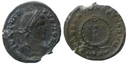 Crispus César - AE Follis Réduit - CAESARVM NOSTRORVM - VOT X  - Londres (8702) - 7. The Christian Empire (307 AD To 363 AD)