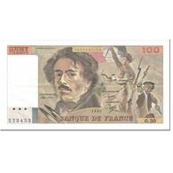 France, 100 Francs, Delacroix, 1981, Undated (1981), TTB+, Fayette:69.5, KM:154b - 1962-1997 ''Francs''