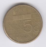 NEDERLAND 1988: 5 Gulden, KM 210 - [ 3] 1815-… : Kingdom Of The Netherlands
