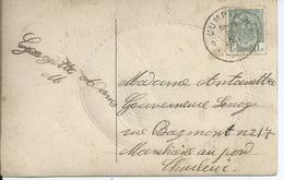 Fantasiekaart Met OCB 81 - Afstempeling CUMPTICH - COBA 50 - 1893-1907 Armoiries