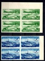 Espagne YT N° 624 Et N° 625C (non émis) En Blocs De 4 Non Dentelés Neufs ** MNH. TB. A Saisir! - 1931-50 Neufs