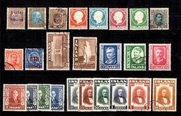 Islande Belle Petite Collection De Bonnes Valeurs 1902/1954. B/TB. A Saisir! - Islande