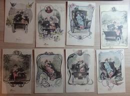 Illustrateur Wien Ch. Scolik - Lot De 8 Cartes Postales - Colorisée - Circulé - 2 Scans. - Vienne