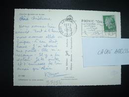 CP TP M. DE CHEFFER 0,30 OBL.MEC. VARIETE 3-8 1973 44 PORNIC LOIRE ATLANTIQUE Ses Corniches Ses Plages Son Climat Son Go - Postmark Collection (Covers)