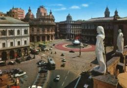 Citroen DS,Fiat 500,600,Piaggio,Trolleybus...Genova,Piazza De Ferrari, Ungelaufen - Voitures De Tourisme