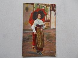 ELSASSER TRACHT  ALSACIENNE EN COSTUME  VOYAGEE 1919 - Alsace