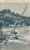 Photo (1952) : Canoé-Kayak Sur Le Verdon, Passage Délicat Du Barrage Ruiné Après Le Pont D'Esparron - Collezioni