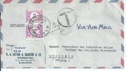 Fragment Van Brief Uit Pakistan Met Tx47 (2x) - Taxes