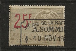 FISCAUX EFFETN°481 25F GRIS TYPE TASSET 1921 - Revenue Stamps