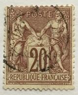 Timbre France YT 67 1876-78 Type SAGE (type I) 20 C Brun-lilas (côte 20 Euros) – 12 - 1876-1878 Sage (Type I)