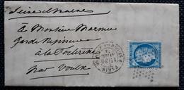 Frankreich 1874, Brief PARIS Gelaufen VOULX - 1871-1875 Ceres