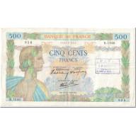 France, 500 Francs, La Paix, 1940, 1940-12-05, ANNULÉ, TTB, Fayette:32.10 - 1871-1952 Gedurende De XXste In Omloop