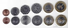 Mauritania - Set 6 Coins 1/5 1 2 5 10 20 Ouguiya 2017 - 2018 UNC Lemberg-Zp - Mauritania