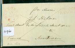 HANDGESCHREVEN BRIEF Uit 1830 Uit DOETINCHEM Via RONDSTEMPEL EN LANGSTEMPEL FRANCO DOESBORGH Naar AMSTERDAM   (11.760) - Nederland