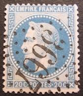 R1494/244 - NAPOLEON III Lauré N°29B - GC 3667 : SAINT JEAN D'ANGELY (Charente Inf) - 1863-1870 Napoléon III. Laure