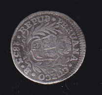 60562-pièce De Monnaie Pérou.1835.firme Y Feliz.por La Union.repub Peruana Cuzco B - Vrac - Monnaies
