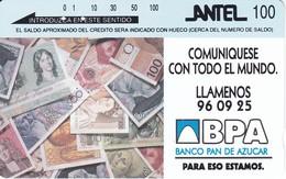 24 TARJETA TAMURA DE URUGUAY DEL BPA (BILLETE-BANKNOTE) - Uruguay