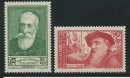 FRANCE: **, N°343 Et 344, TB - Unused Stamps