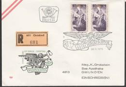 1975: ,Ersttag-Christkindl-Brief Mit Rekozettel Christkindl V. 28.11.1975 (s.Foto) - 1971-80 Cartas
