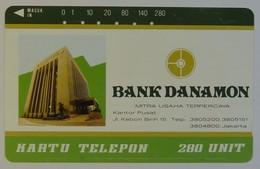 INDONESIA - Private - 280 Units - Bank Danamon - 1990 - Permutel - Indosat - Used - Indonesia