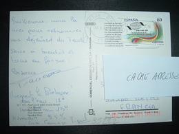 CP Pour La FRANCE TP ORGANIZACION MUNDIAL DEL TURISMO 60 OBL.MEC.17 8 95 PLATJA D'ARO - 1991-00 Lettres