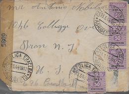 1944 AMGOT - Lotto Occupazione Anglo Americana Sicilia - Lettera Per Estero - Occ. Anglo-américaine: Sicile